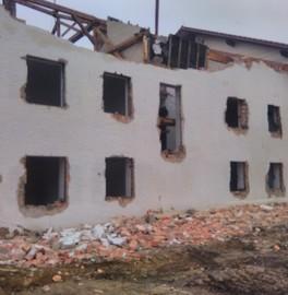 Abbruch von Altgebäude/ Baugrube  in Schwemmsandboden